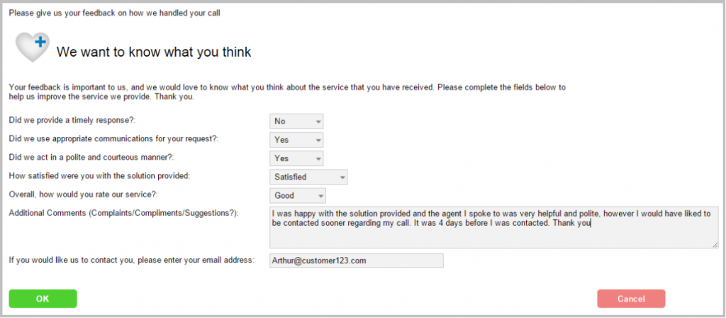 customer satisfaction survey itsm helpdesk