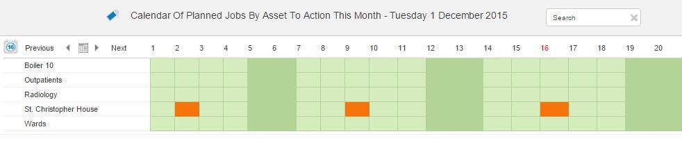 PPM calendar facilities management software