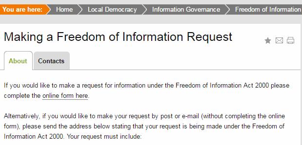 FOI Request logging