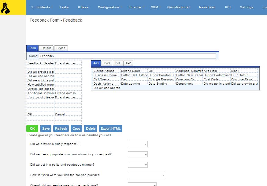 client satisfaction form