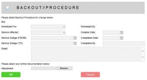 backout procedure change management task