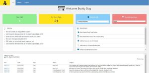 web portal customer dashboard