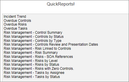Risk Report Software