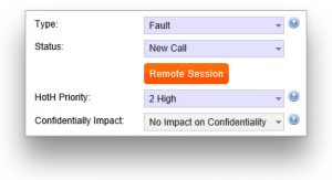 helpdesk remote support button