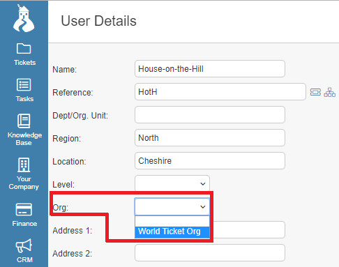 connect user to org