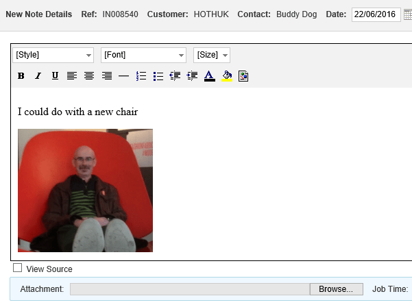 copy and paste images into notes