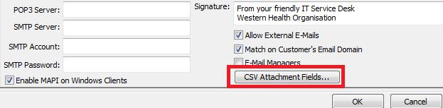 csv attachment button