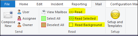 email actions pane