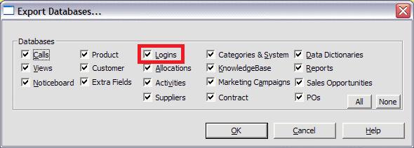 export logins