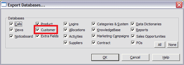 exporting customers csv on windows