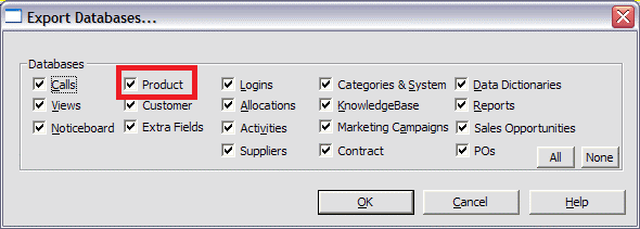 exporting products on windows