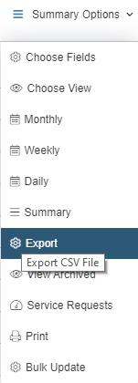exporting tab on webserver