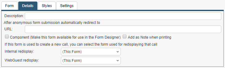 form details tab