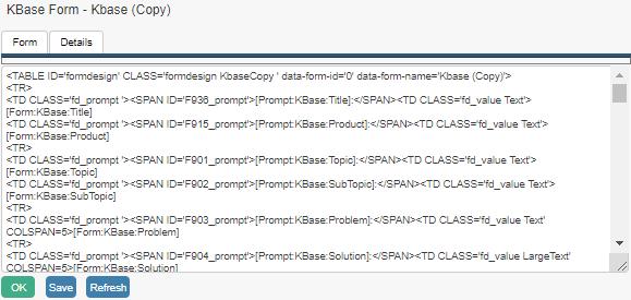 knowledgebase form html export