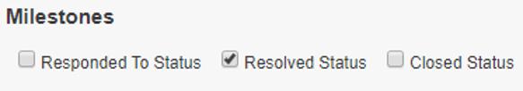 milestone statuses