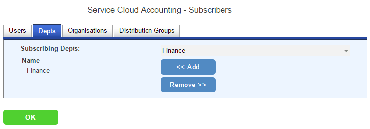 subscribers department tab