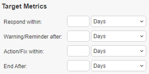 target metrics section