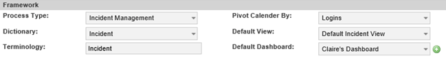 default dashboard setting