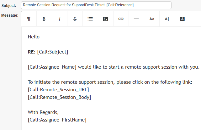 remote support email