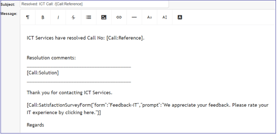feedback form email example