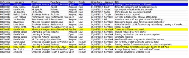 filtered list: windows