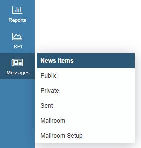 news items dropdown menu