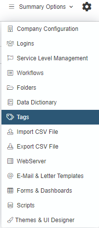 tags drop-down