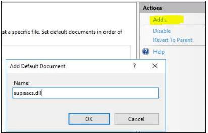 add default document