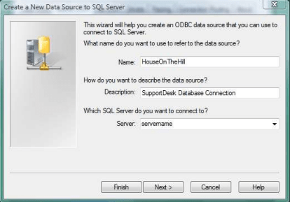 create a new datasource to sql server