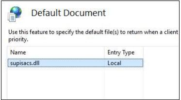 default document supisacs