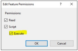edit feature permissions execute