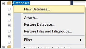 select new database