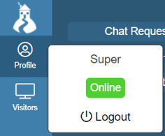 chat logout button