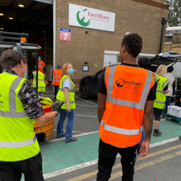 Marcus Rashford Helping Handat Fareshare
