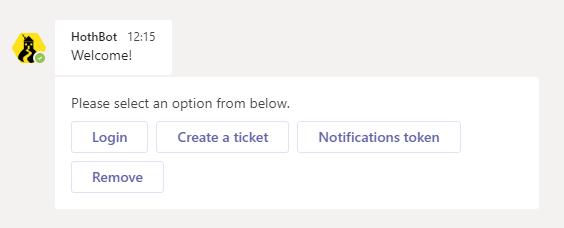 Log a Teams ticket